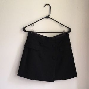 Black Zara Tuxedo Skirt with buttons
